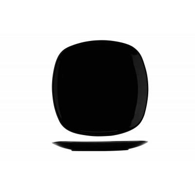 KITHIRA BLACK DESSERTBORD 20X20CMVIERKANT  Cosy & Trendy