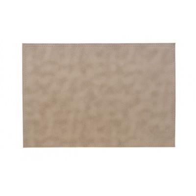 PLACEMAT LEATHERLOOK GRIJS 43X30CM