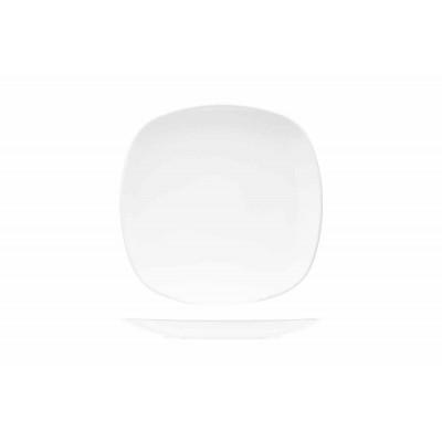KITHIRA WHITE DESSERTBORD 20X20CMVIERKANT  Cosy & Trendy