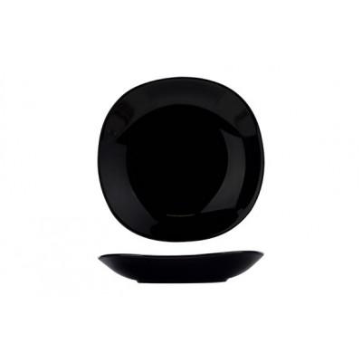 KITHIRA BLACK DIEP BORD 21X21XH3,8CMVIERKANT