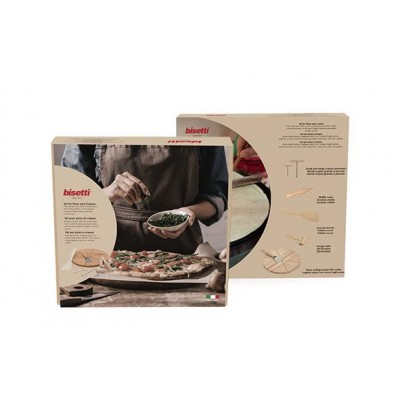 PIZZA-PANNENKOEKENSET 7-DLG HOUT  Bisetti