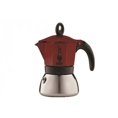 MOKA INDUCTION KOFFIEKAN 6T - ROOD Bialetti