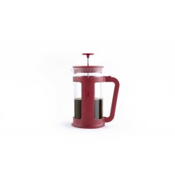 FRENCH PRESS 1L BOROSOLICAAT ROOD