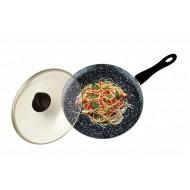 Fantasia Stone wokpan met deksel 28cm
