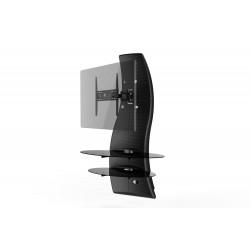 Ghost design 2000 wandkast dubbele arm beugel VESA 200/300/400 carbon  Meliconi