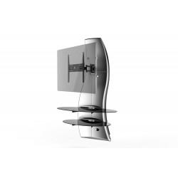Ghost design 2000 wandkast dubbele arm beugel VESA 200/300/400 zilver  Meliconi
