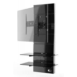 Ghost design 3000 wandkast dubbele arm beugel multiple VESA zwart  Meliconi