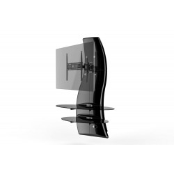 Ghost design 2000 wandkast dubbele arm beugel VESA 200/300/400 zwart  Meliconi
