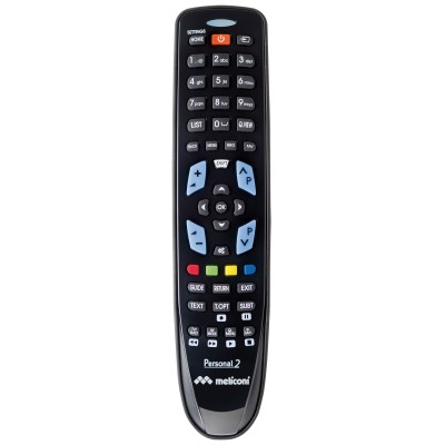 Gumbody personal 2 universele afstandsbediening LG tv ready to use rubber body zwart  Meliconi