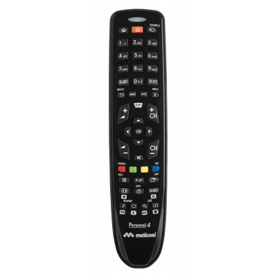 Gumbody personal 4 universele afstandsbediening Philips tv ready to use rubber body zwar  Meliconi