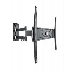 Curved 400 DR muurbeugel wendbaar dubbele arm voor 32-80 inch tv zwart  Meliconi