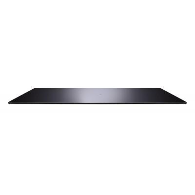 Rotabase Elite large turning base tv steel stand gehard glas shelf 75x35cm zwart  Meliconi