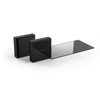 Ghost cube shelf modular cable cover system with glas shelf zwart  Meliconi