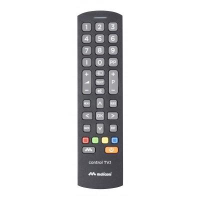 Control TV.1 universele afstandsbediening voor tv zwart  Meliconi