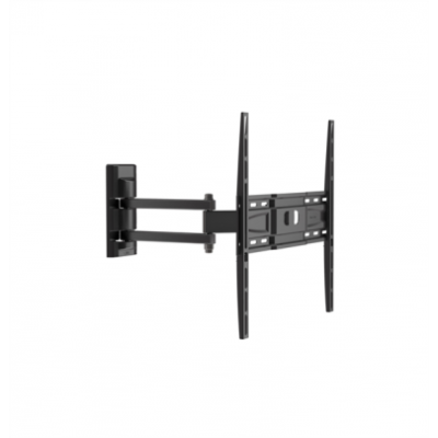 FM-400 muurbeugel wendbaar dubbele arm voor 32-80 inch tv + HDMI kabel 2m zwart  Meliconi