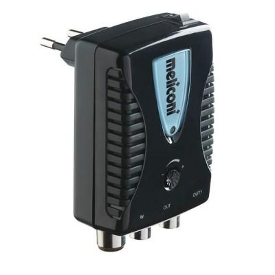 AMP 20 LTE indoor luchtsignaal versterker 20 dB voor 2 toestellen zwart  Meliconi