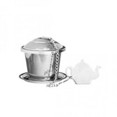 Speciality thee infuser met uitlekschaaltje uit rvs ø 5.5cm