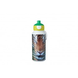 Drinkfles pop-up Campus 400 ml - Animal Planet Tijger