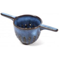 Theezeef Pure L14 X B6 X H5 Cm Donkerblauw Geglazuurd