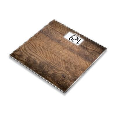 Weegschaal met glazen weegplateau GS 203 Wood Beurer