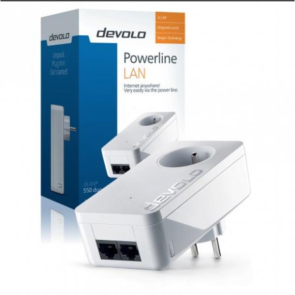Devolo Powerline adapter dLAN 550 Duo+ Powerline