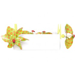 WINDMOLEN FLOWERS GROEN D9CM CLIP SET4