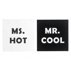KADER MR COOL MS HOT 2ASS  ZWART WIT  Cosy @ Home