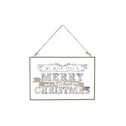 PLAKKAAT GLAS MERRY CHRISTMAS 30X0.5X20