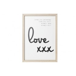 KADER LOVE YOU... HOUT NAT WIT 26X2X36  Cosy @ Home