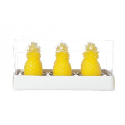 Theelicht Ananas Set6 Geel