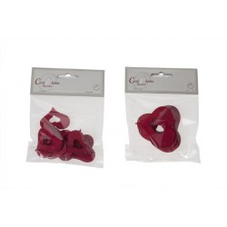 STROOIDECO HART 2ASS SET6 ROOD HOUT 4CM  Cosy @ Home