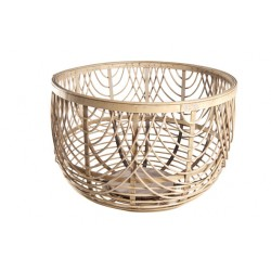LOUISE MAND ROND HOUT GRIJS 42X42X28CM Cosy @ Home