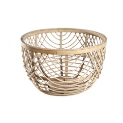 LOUISE MAND ROND HOUT GRIJS 35X35X22CM Cosy @ Home