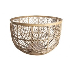 LOUISE MAND ROND HOUT GRIJS 51X51X33CM Cosy @ Home