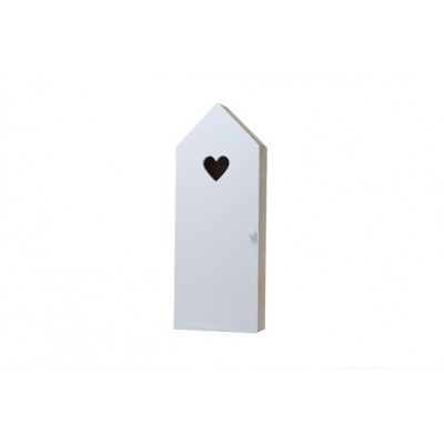 SLEUTELBORD  WIT HUIS HOUT 15X8XH40  Cosy @ Home