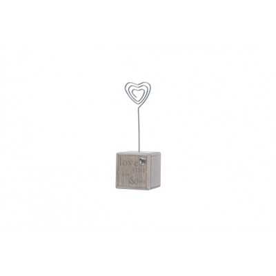 CLIP  BEIGE HART HOUT 5X5XH13  Cosy @ Home