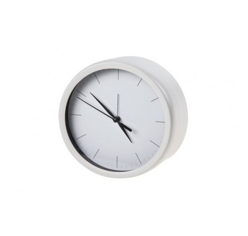 HORLOGE WIT ROND HOUT 14,6X7XH16  Cosy @ Home