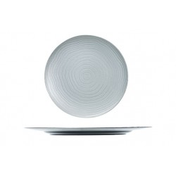 BORD CURLY ZILVER ROND 33X33XH2CM