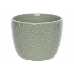 BLOEMPOT ROSE GROEN D13XH10CM ROND CONIS Cosy @ Home