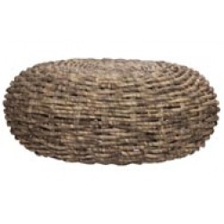 POEF GROEN 50X50XH20CM ROND RIET  Cosy @ Home