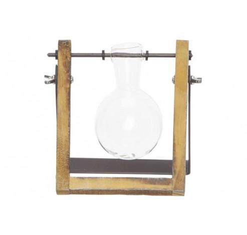 HOUDER GLASS VASE D6.5-H10CM NATUUR 12X6  Cosy @ Home