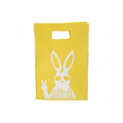 DECOZAK STAY COOL RABBIT GEEL 25,5X38XH9  Cosy @ Home