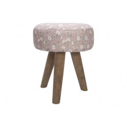 KRUK FLOWERS ROZE 30X30XH35CM ROND HOUT  Cosy @ Home