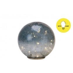 BAL LED GRIJSBLAUW 20X20XH43CM GLAS  Cosy @ Home