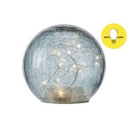 BAL LED LAMP BLAUW D15XH14CM GLAS Cosy @ Home
