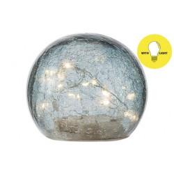 BAL LED LAMP BLAUW D12XH10CM GLAS Cosy @ Home