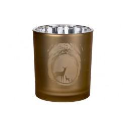THEELICHTGLAS DEER BRUIN D9XH10CM GLAS