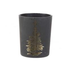 THEELICHTHOUDER XMAS TREE GOLD ZWART 5,6