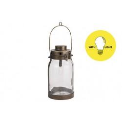 LAMP LANTERN GOUD 16,5X16,5XH32CM METAAL  Cosy @ Home
