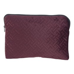 TOILETZAK VELVET CROSS  BORDEAUX 26,5X19  Cosy @ Home